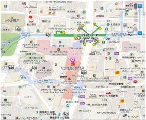 ロッテ百貨店地図