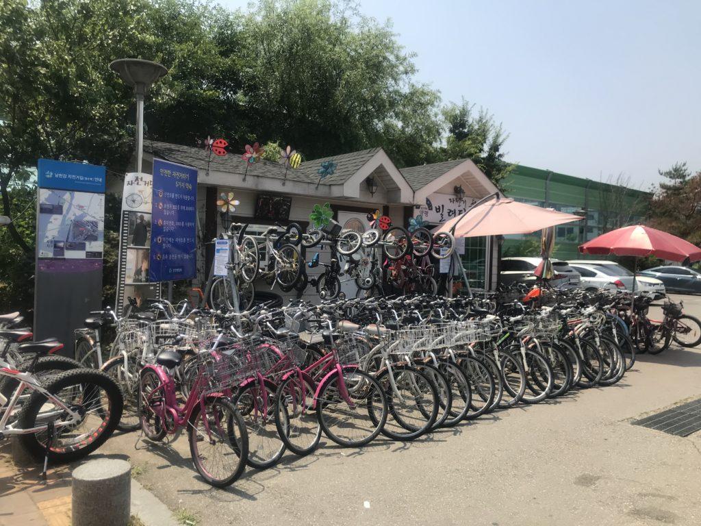 ジェジュンが借りた自転車屋さん